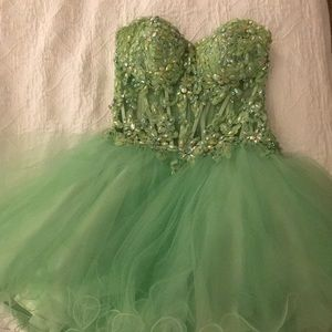Elegant sequined Jovani strapless dress